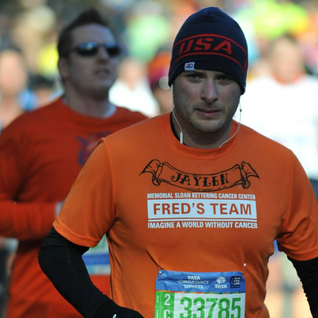 My brother BRIAN HELLER  in NYC Marathon 2014